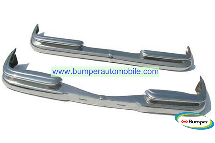 Mercedes W111 Coupe bumpers models 220B, 220S, 220SE, 250SE, 280SE, 230S, 300SE, 300SEL, 220SEB (1959-1968) polished stainless steel